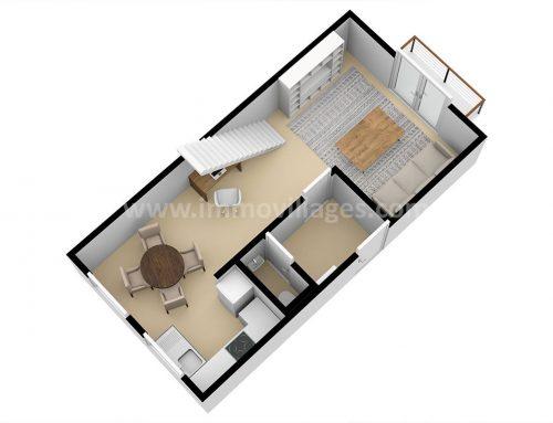 A vendre à PERWEZ : Excellent appartement duplex de 2 chambres…